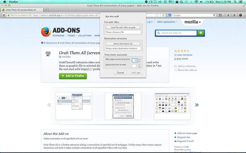 firefox screen shot add-on