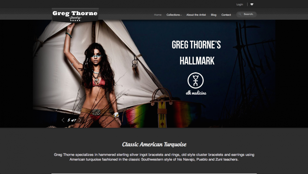 Greg Thorne Jewelry – Ecommerce Site Build