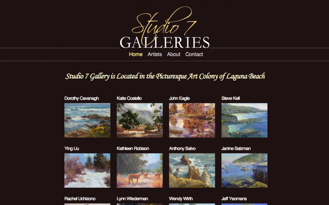 Studio 7 Gallery – Site Build + Maintenance