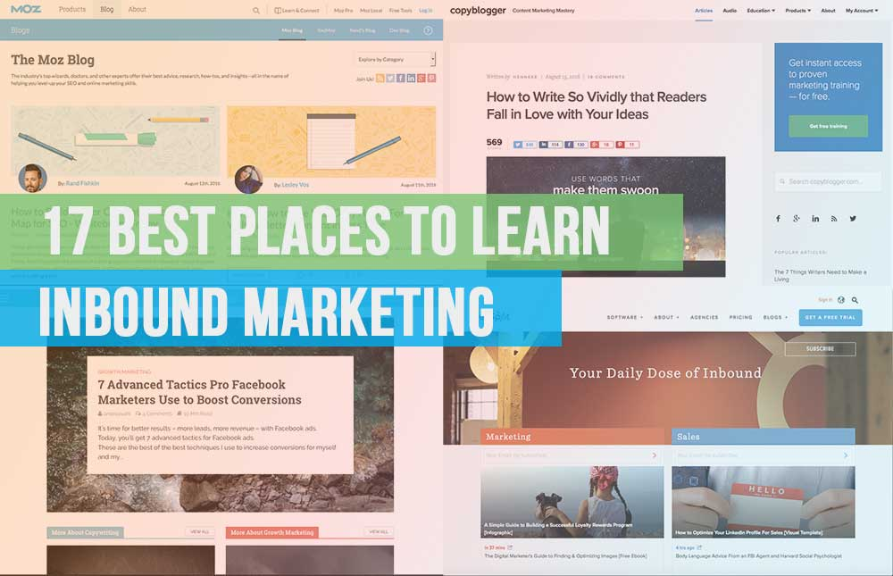 17 places to learn inbound marketing