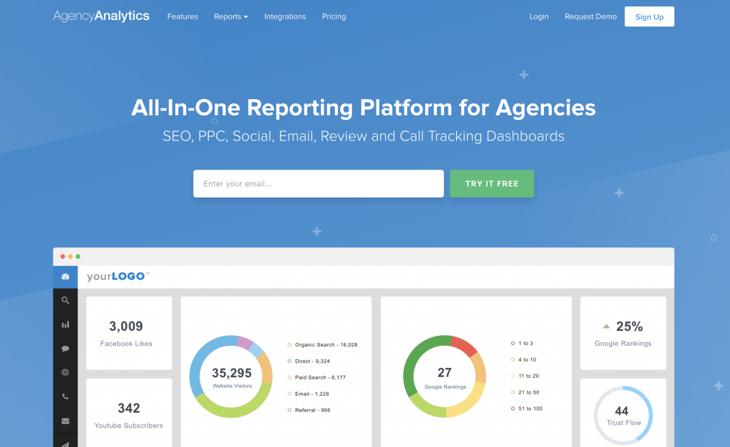 agency analytics home page