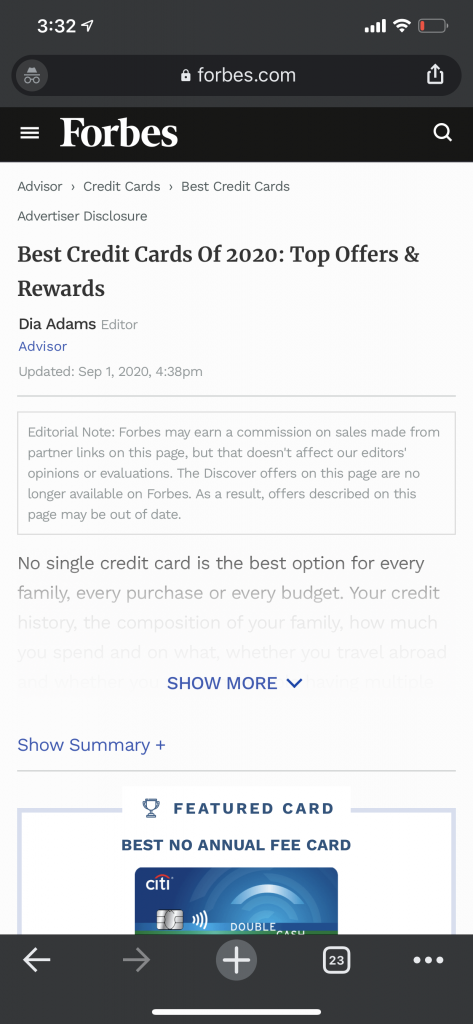 forbes credit card search