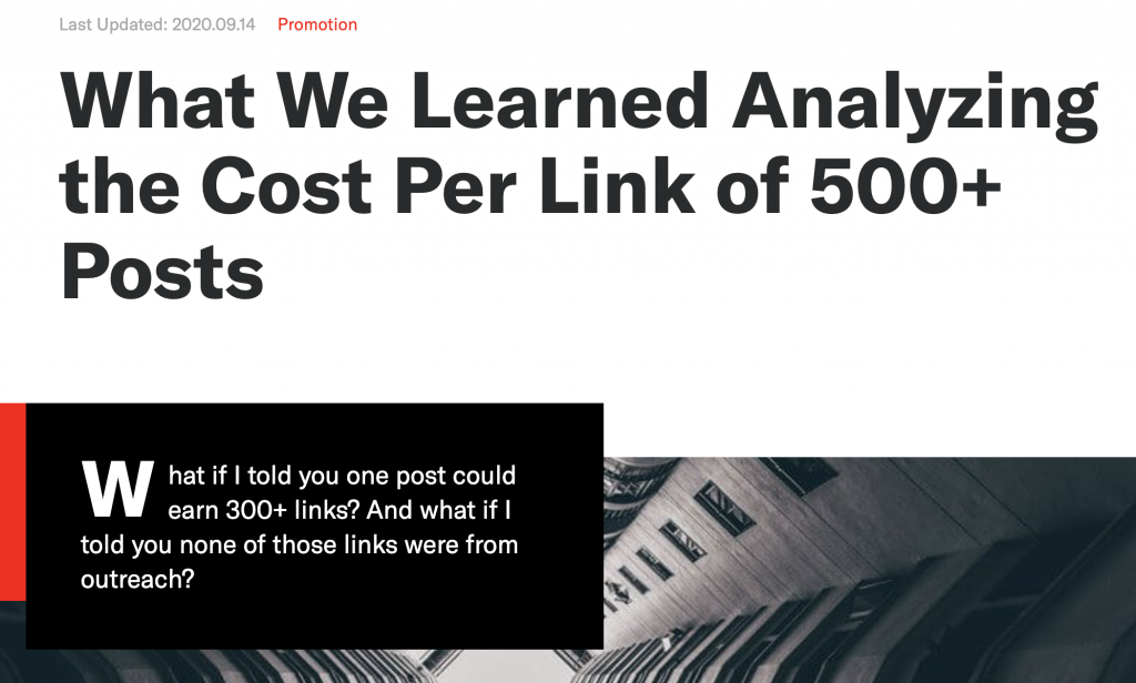 cost per link analysis